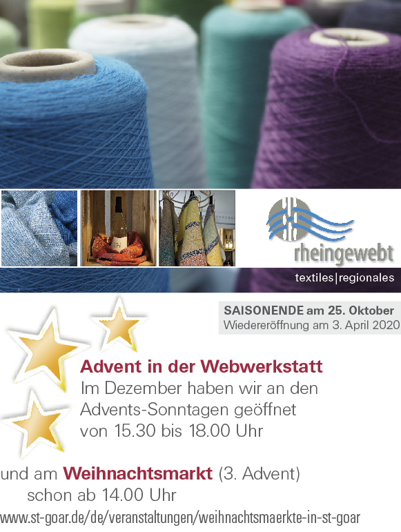Flyer zu den Terminen im Advent